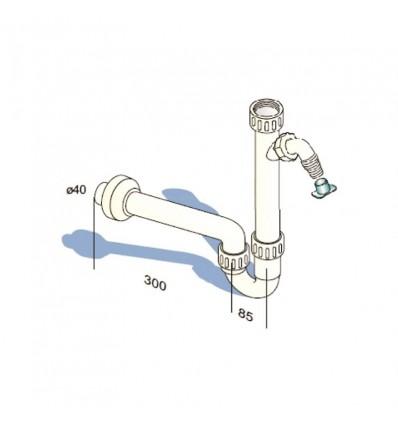 """Sifon S MIB-12008 umivaonik 5/4"""" s priključkom 40"""