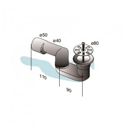 Sifon za tuš/kadu MIB-14003 fi80mm 5/4