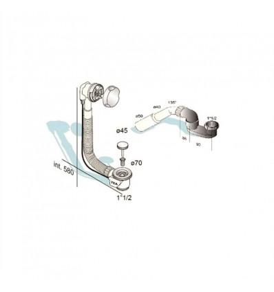 Sifon gibljivi za tuš/kadu automatik MIB-14004 5/4