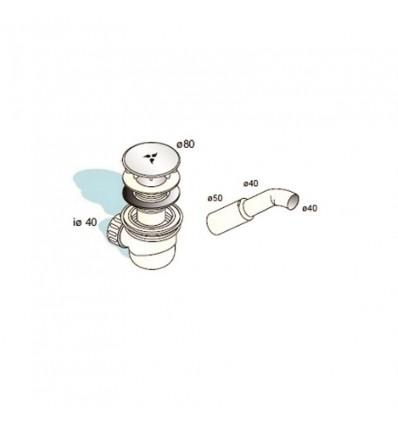 Sifon za tuš/kadu 5/4 VEGA MIB-14002