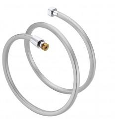 Crijevo tuša 1,5m PVC kvadratno srebrno MIB-6005