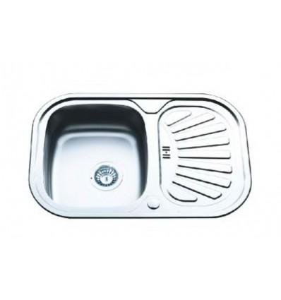 BLITZ sudoper jednostruki inox 740x490 MIB-881