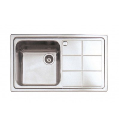 BLITZ sudoper jednostruki inox 860x500 MIB-890