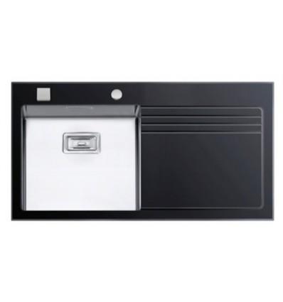 RODI sudoper GLASS 105 BLACK 1000x530mm LIJEVI
