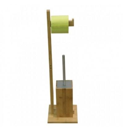 Držač toaletnog papira i wc četke - bambus
